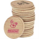 einfarbig bedruckte Holz-Chips