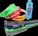 Kunststoffbänder incl. einfarbiger Bedruckung